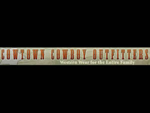 The latest Tweets from Cowtown Cowboy (@CowtownCowboy). Western wear for the entire family. Open Monday-Saturday 9 am - 9 pm, Sunday 11 am - 5 pm. We are open until 11 pm Saturday nights during Rodeo season. Woodstown, NJ.